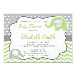 Elephant Baby Shower , EDITABLE COLOR