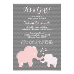 Elephant Baby Shower  Pink and Grey