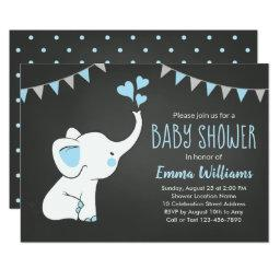 Elephant Baby Shower  for a Boy