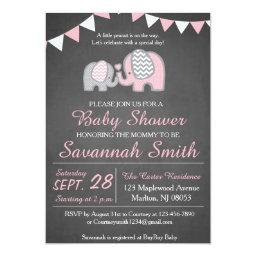 Elephant Baby Shower  for a Girl