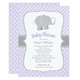 Elephant Baby Shower    Purple and Gray