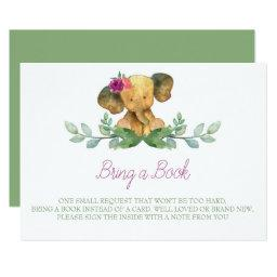 Elephant Book for Baby Insert Card