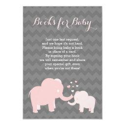 Elephant Books For Baby Insert Pink Grey
