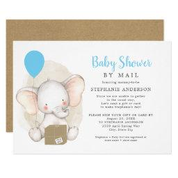 Elephant Boy Baby Shower By Mail Invitation