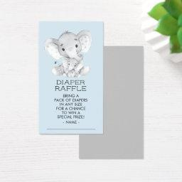 Elephant Boys  Diaper Raffle Ticket