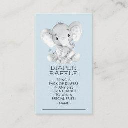 Elephant Boys  Diaper Raffle Ticket Enclosure