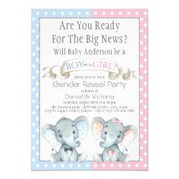 Elephant Gender Reveal