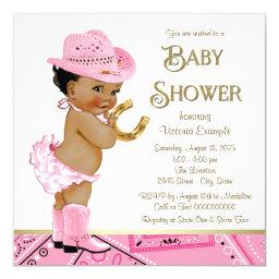 Ethnic Cowgirl Baby Shower Invitation