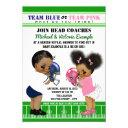 Ethnic Football Gender Reveal Baby Shower Invitations
