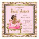 Ethnic Girl Pink Gold Chair Tutu Baby Shower