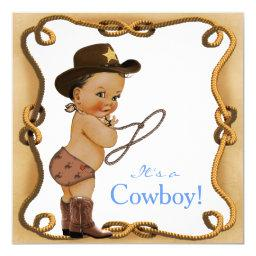 Ethnic Little Cowboy Baby Shower