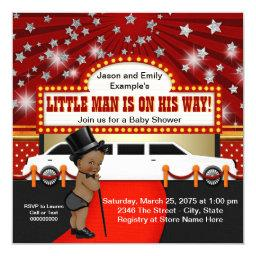 Ethnic Little Man Limousine Movie Star Baby Shower