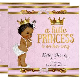 Ethnic Little Princess Baby Shower Pink Gold