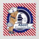Ethnic Little Sailor Nautical Baby Shower Invitation