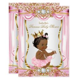 Ethnic Princess Baby Shower Pink Silk Gold