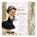 Ethnic Princess Little Lady Pink Gold Baby Shower Invitations