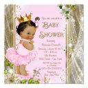Ethnic Princess Tutu Pink Gold Baby Shower