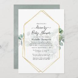 Eucalyptus Geometric Drive By Shower Invitation