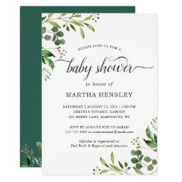 Eucalyptus Green Leaves Nature Look Baby Shower