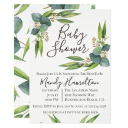 Eucalyptus Greenery Baby Shower