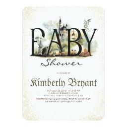 Fairytale Magic And Enchanted Story Baby Shower Invitation