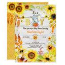 Fall Baby Boy Shower Invitation Sunflower Elephant