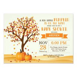 Fall Baby Shower Invitation  Trees and Leaves