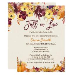 Fall Baby Shower Invitationss - Fall In Love
