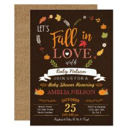 Fall In Love Pumpkin Baby Shower