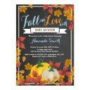 Fall Pumpkin Boy Baby Shower Invitation Chalkboard