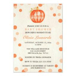 Fall Watercolor Pumpkin Baby Shower