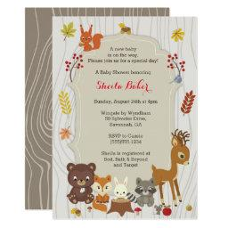 Fall Woodland Themed Baby Shower