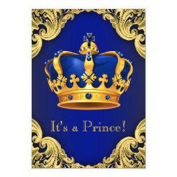 Fancy Prince Baby Shower Blue