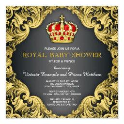 Fancy Prince Baby Shower Regal Red
