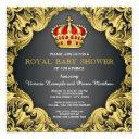 Fancy Prince Baby Shower Regal Red Invitation