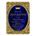 Fancy Royal Blue And Gold Prince Baby Shower