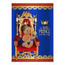 Fancy Royal Ethnic Prince Baby Shower Invitation