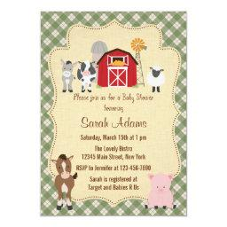 Farm Animal Baby Shower  Rustic