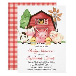 Farm Baby Shower Invitation, Barnyard Baby Shower Invitation