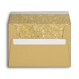 Faux Gold Glitter Envelope