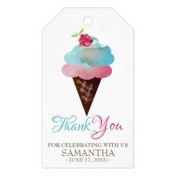 Favor Gift Tag Ice Cream Cone
