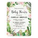 Fiesta Baby Shower Invitation Cactus Pink Floral