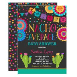 Fiesta Baby Shower Invitations Nacho Average Shower