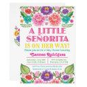 Fiesta Floral Baby Shower Invitations