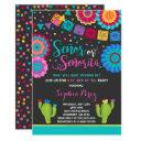 Fiesta Gender Reveal Invitations Señor Or Señorita