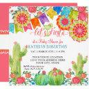 Fiesta Margarita Cactus Baby Shower Girl Paper Fan Invitation