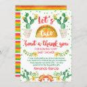 Fiesta Taco Bout A Baby Thank You Invitations
