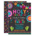 Fiesta Twin Baby Shower Invitations Holy Guacamole