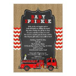 Fire Truck Baby Sprinkle Invite / boy baby shower