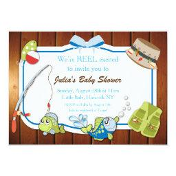 Fishing Baby Shower Personalized Invite